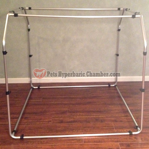 Optional Aluminum External Frame for Pet Hyperbaric Chamber